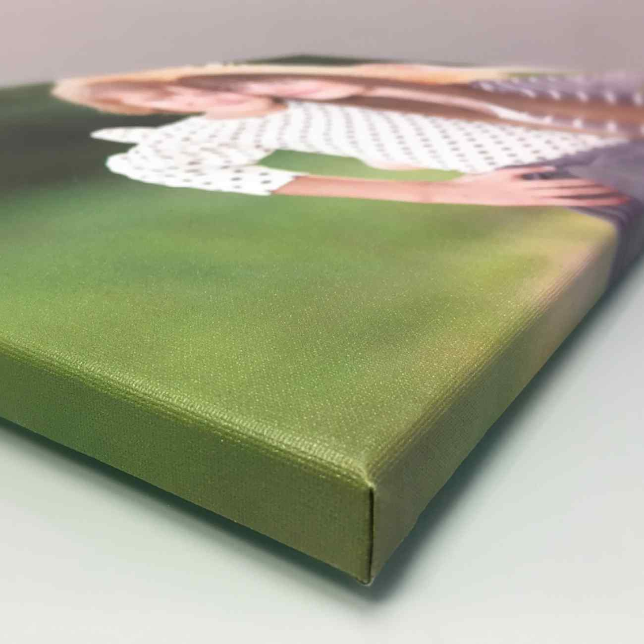 Foto na platne zabaleny ram detail